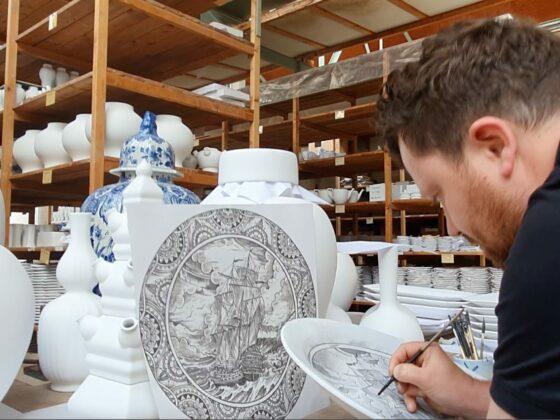 dutch artisan in a workshop