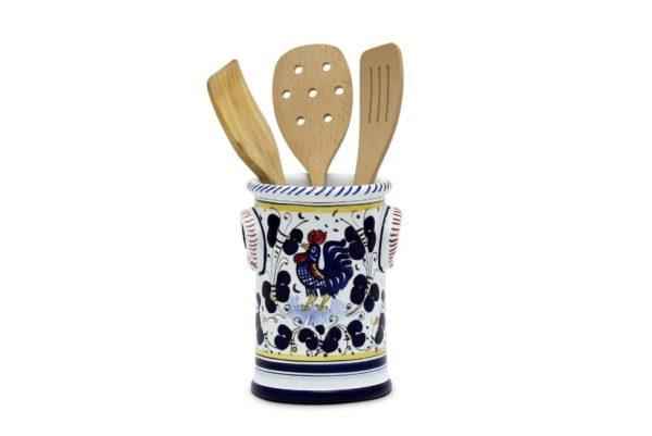 ceramic holder and kitchen utensils