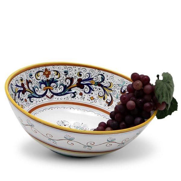 showcasing Deruta ceramics