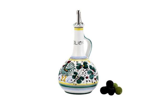 green coloured bottle