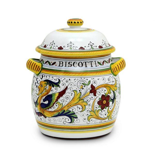 biscotti writing on a jar