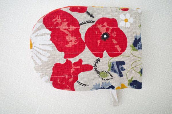 flower decorations on a mitten