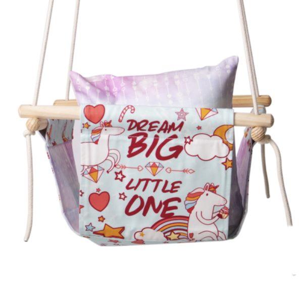 unicorn themed swing for babies