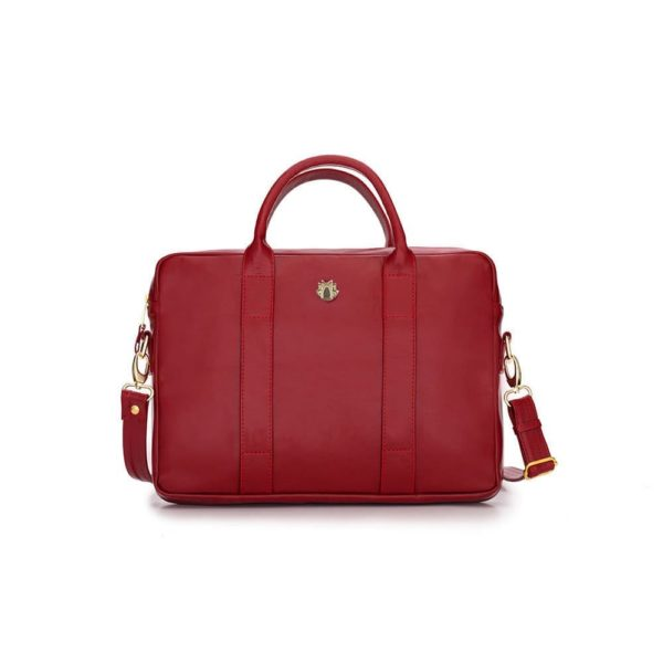 red leather laptop bag - made in Europe