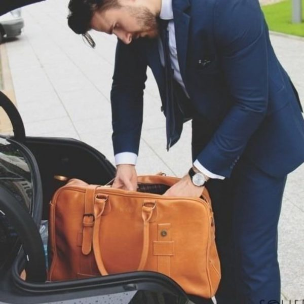 man with a bag - lifestyle shot