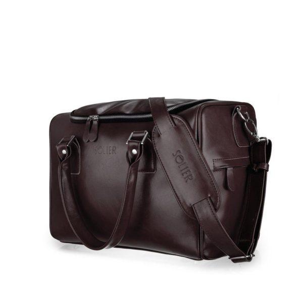 dark leather option for weekender bag