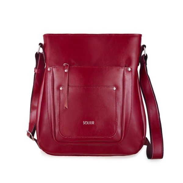red leather option for leather bag