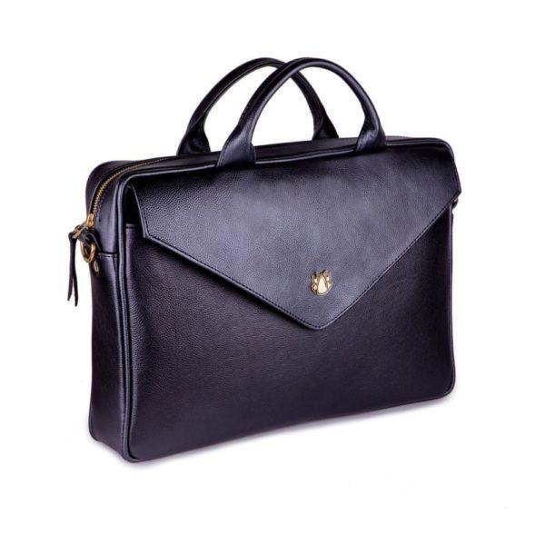 black leather option for laptop bag product