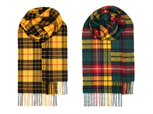 two lambswool scarfs