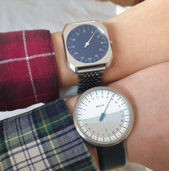 botta and slow watches side by side