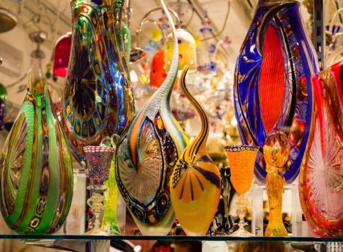 colorful-murano-glass-display