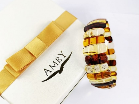 amber bracelet and a box