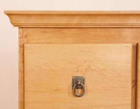 wood furniture detail - drawer close up