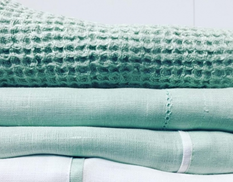 stack of linen towels - detailed