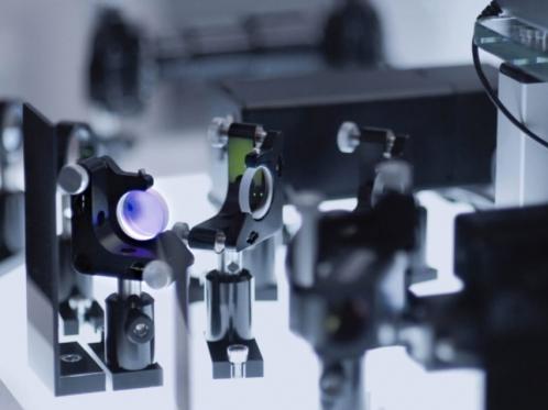 scientific laser close up