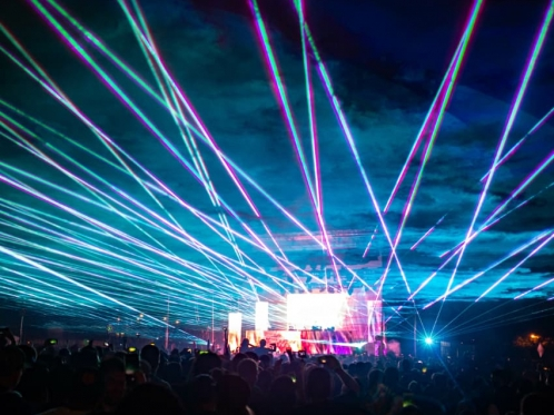 laser show in the concert