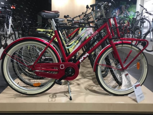 bikes at the trade show