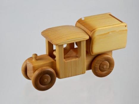 wooden truck made in scandinavia