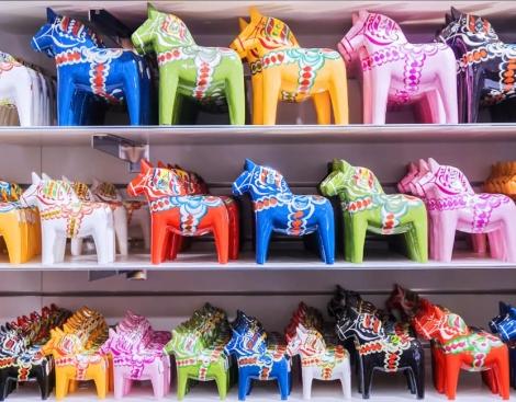 shelves-full-of-colourful-dala-horses
