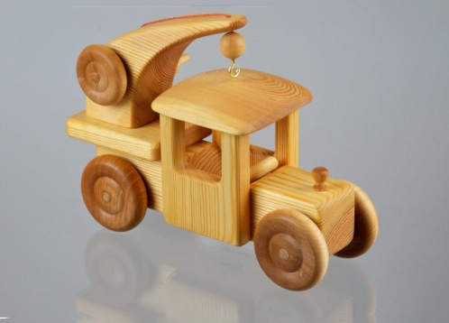 toy truck made from wood