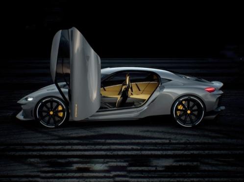 luxury supercar with an open door