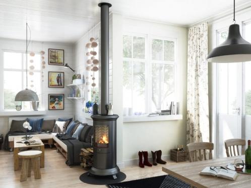 contemporary Swedish made fireplace