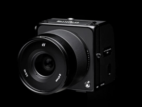 camera in a dark background