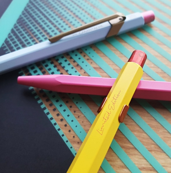 three colourful pens reviewed