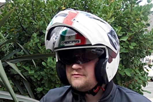 integrated sun visor use