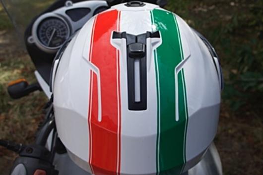 helmet from the top