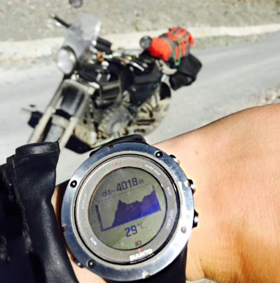smart watch testing in the mountains