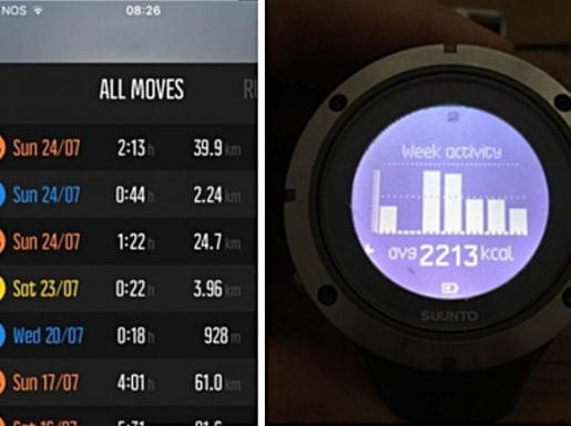 app and watch screens
