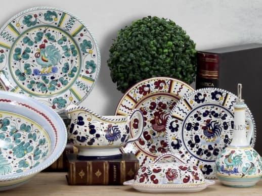 showcasing Orvieto ceramic decoaration type