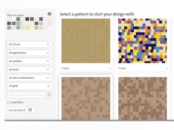 online design tool for tiles