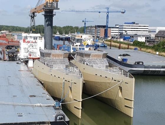 ship building yard in Rotterdam