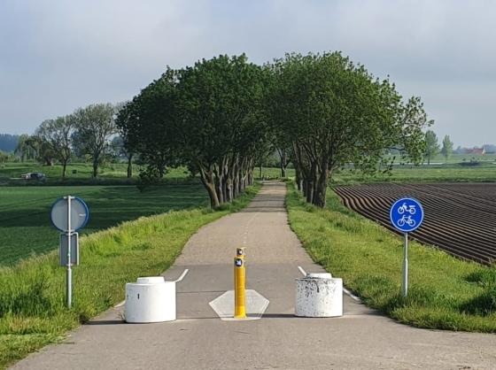 bike lane between fields