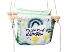blue rainbow baby swing product