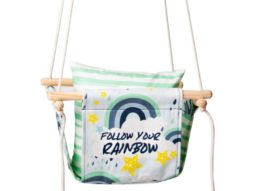 green baby swing product image