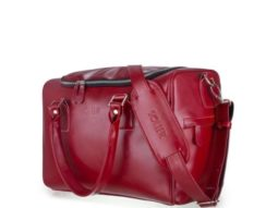 red leather bag featured for weekends
