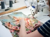 showing sewing process