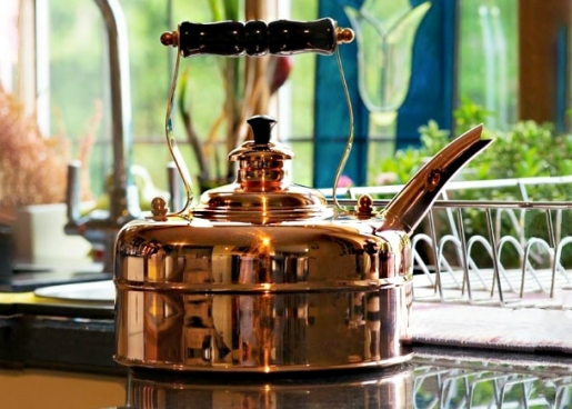 copper kettle made in England
